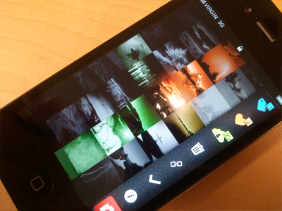 iphone interface concept ambi light ambiance iphone apple square colors menu camera pic gallery
