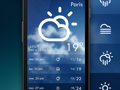 weather app weather android france app cloud meteo skin celcius climacon climat degree fahrenheit humidity sun temp wind
