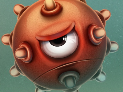 BellyFish Game Character bellyfish characters iphone mobil game illustration