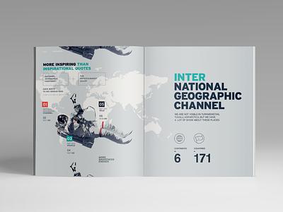 Nat Geo Brandbook geographic international channel natgeo timeline typography type layout