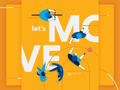 IBM illustrations_WIP sports futbol poster play move ibm characters illustration