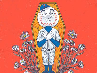 In Memoriam world series silkscreen baseball poster