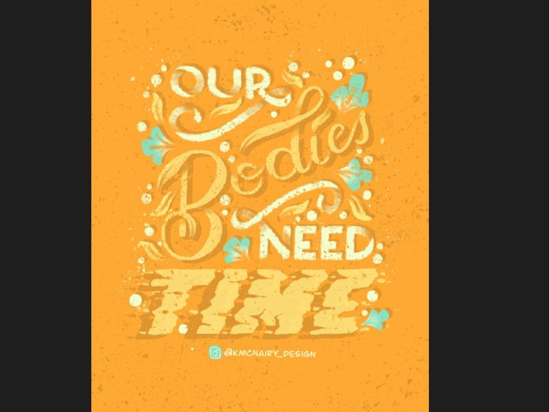 MondayMomtras- Time swashes decorative procreate illustration lettering handlettering