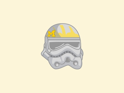 Michigan Storm Trooper clone wars fun galaxy university of michigan yellow helmet darth vader go blue michigan storm trooper star wars