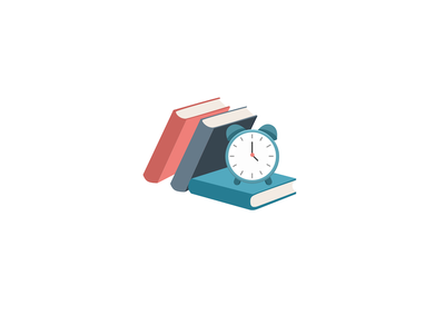 Books and Clock testing timed school college test exam study books time clock
