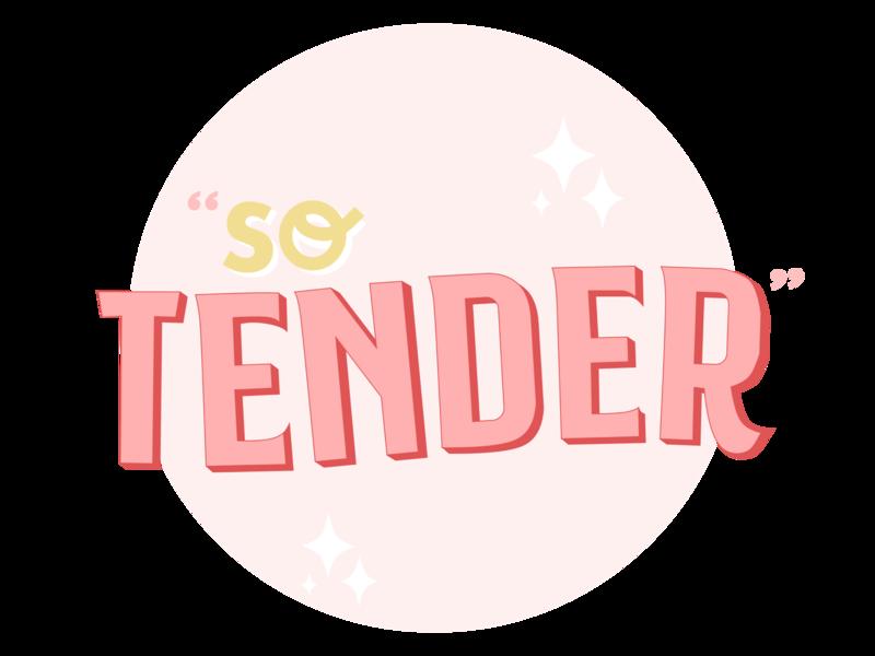 So Tender Sticker clean minimal quote feminine pink sticker typography tender so tender