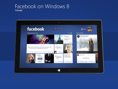 Facebook on windows 8 facebook windows 8 concept metro interface interaction