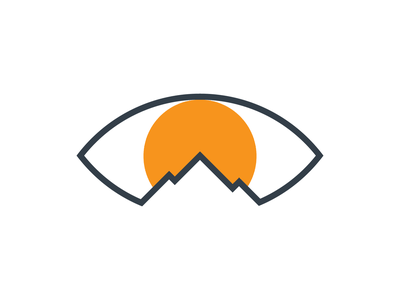 Sage Mountain (vision care) doctor eyeball eyesight eyes sun clinic eye care vision mountain branding logo design logotype logodesign brand brand identity symbol logo
