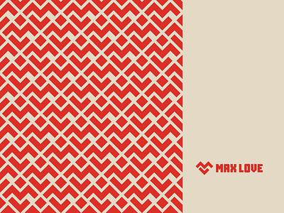 Max Love love max patterns pattern logodesign branding graphic design visual identity logotype symbol brand brand identity logo design logo