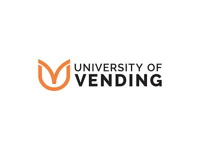 University of Vending logotype university logo branding graphic design visual identity brand identity brand logo logo design golden ratio letter v open book letter u vending university