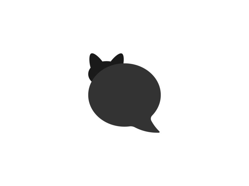 Cat chat chatting discuss discussion logodesign symbol logo design logo talks chat cat
