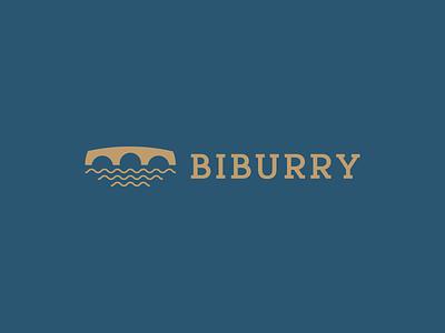 Biburry waves river stone bridge branding logodesign graphic design logotype symbol visual identity brand identity brand logo design logo
