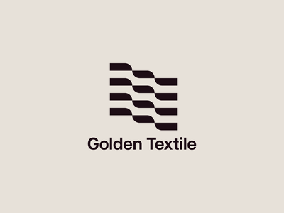Golden Textile company logo logodesign graphic design branding textile modernism visual identity symbol brand brand identity logo logo design