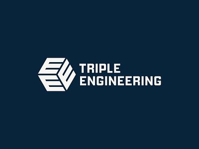 Triple Engineering triple e letter e triple engineering logo engineering branding logotype logodesign graphic design visual identity symbol brand brand identity logo design logo