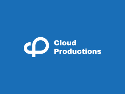 Cloud Productions cp letter p letter c sky productions production cloud logodesign branding graphic design visual identity logotype symbol brand brand identity logo design logo