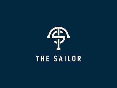 The Sailor brand design branding monogram logo logotype visual identity symbol brand identity brand logo design logo ocean ts letter s letter t anchor logo anchor sea sailor