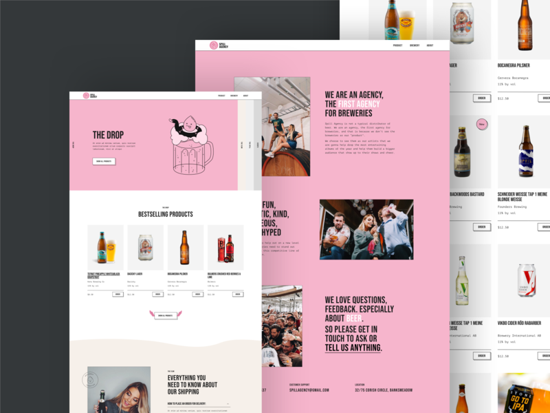 Website for the first agency for breweries online shop web design ux ui shop ecommerce website web typography interaction interface illustraion landing page landing craft brewery brand beer banner agency