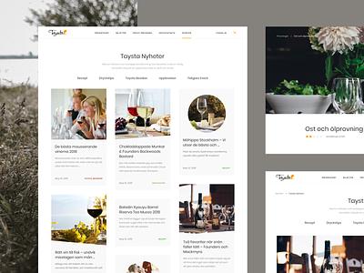 Taysta banner landing color webdesign web ux ui design minimal restaurant wine bar wine