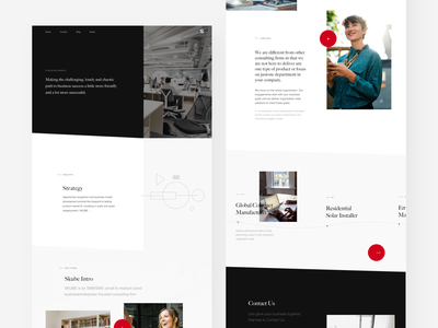 Skube black minimalism illustration banner site website web ui strategy leader corporate design landing page landing index page consulting business home page home