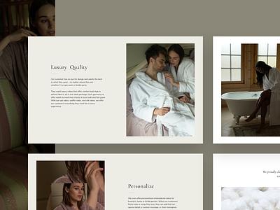 E-commerce website landing page landing clean web minimal cozy pajamas sleep ware fabrics collection wholesale premium gallery catalog ui banner homepage redesign website e-commerce