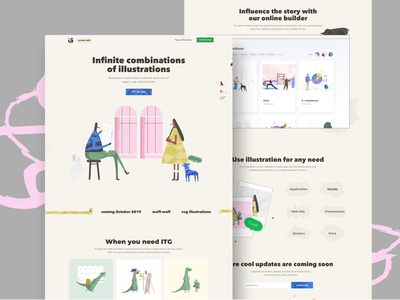 ITG - Site of the Day ux ui website landing landingpage illustration builder animation motion product product design interaction typography platform character vector design wedesign homepage banner