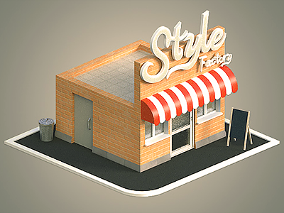 Style Factory 3d modo building isometric