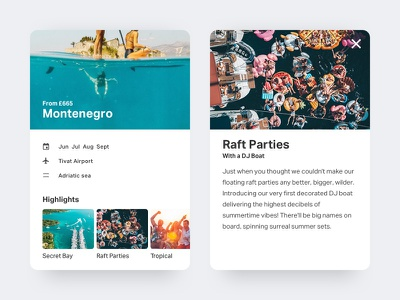 Travel Card ux ui travel card search montenegro mobile minimal interface travel clean card