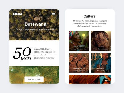Botswana travel card clean search results mobile minimal interface jungle ui card botswana travel