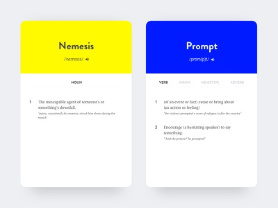 Dictionary card clean investment interface minimal mobile colours dictionary ui ux