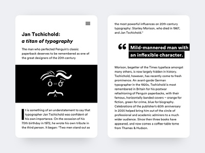 Article news clean article interface minimal mobile black and white typography ui ux
