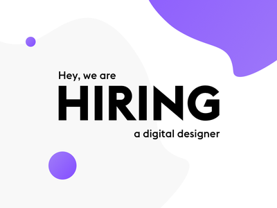 We are hiring lightful purple ui ux job join work designer digital hiring