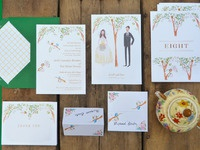 Arielle and scott stationery layout