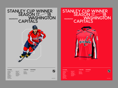 Stanley cup winners. 17—18 ovechkin washington capitals stanley cup nhl typography poster poster art poster