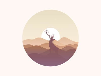 Scenery icon the mountain the scenery the sun elk hill