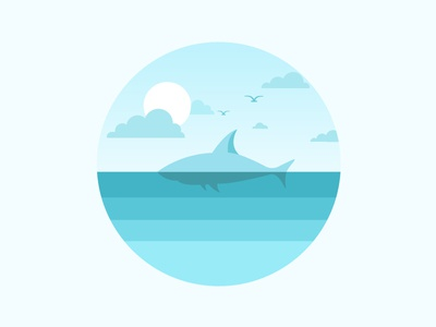 Scenery icon water cloud bird sky sea