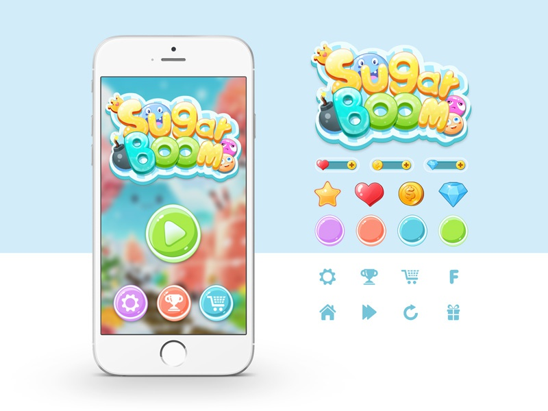 Game Interface Design - Sugar Boom