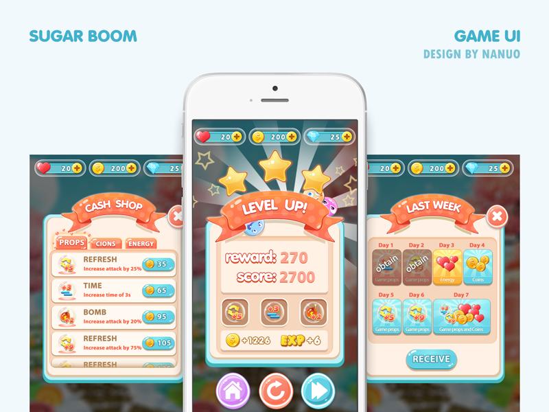 Game Interface Design sweet sugar design interface gui ui game
