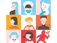 illustration colour art character design illustration
