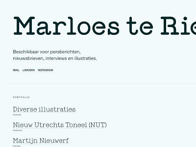 marloesteriele.nl ui typography branding visual design development website design