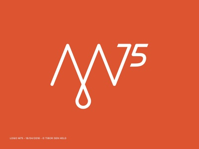 M75 Logo Design identity logo branding