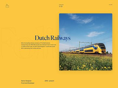 Folio 2020 — Dutch railways website typography development design