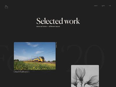 Folio 2020 — Work typography visual design development design