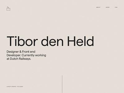 Folio 2020 — Landing typography visual design development design