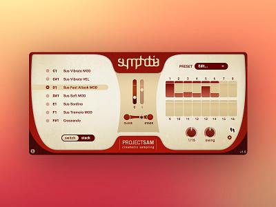 Symphobia design visual ux ui sampling cinematic orchestra software vst music