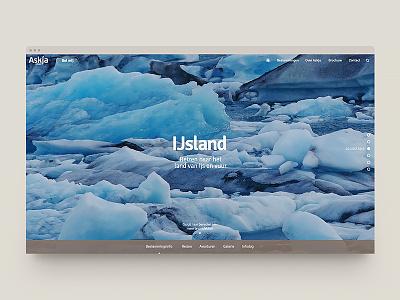 Askja Reizen travel visual design ux website