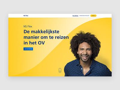 NS Flex ux dutch railways campaign visual design