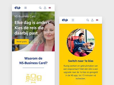 NS-Business Card - ZZP Campaign campaign website visual design ux design