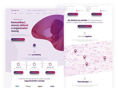 Cognitio design website branding sketch commercial desktop web design landing presentation violet purple webdesign web