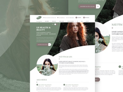 LR Life web presentation image flat webdesign clear ui green woman photo images landing page web  design website presentation sketch design web