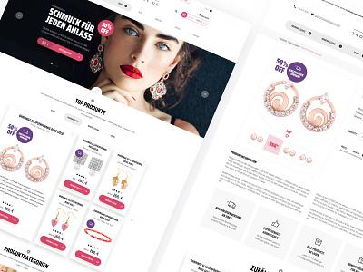 24Ohrringe e-commerce website design deutsch photo slider shop image ui webdesign design sketch minimalism clean woman website web ecommerce